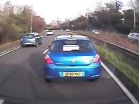 Idiotyczny manewr na autostradzie