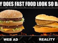 Reklamy Fastfoodow kontra rzeczywistość