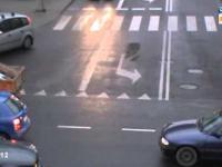 Chaos na skrzyżowaniu pod okrągłą kładką w Rzeszowie