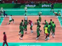 Rozgrzewka reprezentacji Kamerunu na wesoło