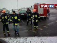 Wypadek w miejscowosci Bronisze zderzenie pojazdu osobowego z ciężarowym