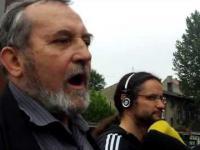 Zygmunt Miernik, który rzucił tortem w sędzię, idzie na policję - konferencja