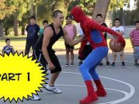 Niesamowity spiderman gra w kosza