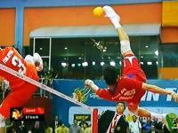 Finałowy mecz w siatkonogę Malezja - Tajlandia