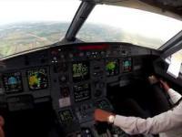 Lądowanie samolotu w Łodzi (EPLL) - widok z kokpitu