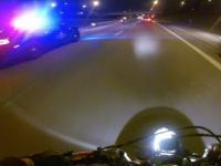 Ucieczka przed policją na motorze