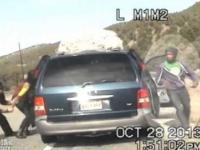 Policjant strzela do matki z dziećmi - pościg