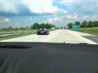 Bugatti Veyron na Polskiej autostradzie