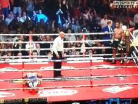 Przerwa podczas pojedynku bokserskiego