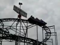 Niebezpieczna akcja na rollercoaster