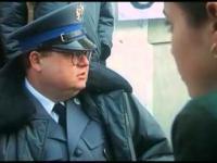 Krótki wywiad z protestującym policjantem.