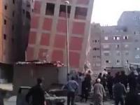 Budynek zawala się po wielkim trzęsieniu ziemi w Nepalu