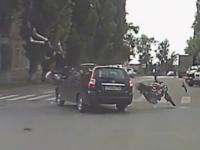 Kompilacja wypadkow motocyklistow w sierpniu 2015
