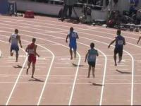 Groźna kontuzja w biegu na 100m