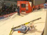 PŚ Wisła 15.01.2015 - Kamil Stoch 139,5 m Skok podparty Kwalifikacje