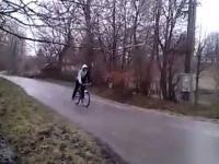 Rower i gołoledź