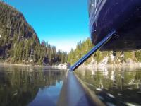 Drift helikopterem po zamarzniętym jeziorze