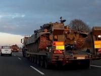 Konwój polskich czołgów na A4 w Wielki Piątek 2015