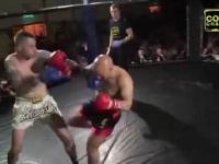 Fighter złamał nogę podczas meczu