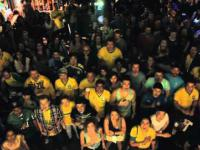 Brazil Fans Singing the National Anthem