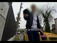 Oszustwo z Vita Slim - Piotr K. niszczy kamerę reporterki