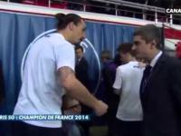 Zlatan Ibrahimovic lekko się zdenerwował gdy dziennikarz CANAL + podeptał mu syna.