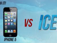 Time-laps bryły lody + test iphona 5