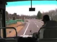 Kierowca autobusu podczas trzęsienia ziemi