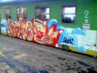 Graffiti na pociągach - sztuka czy dewastacja ?