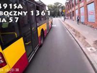 Rowerzysta vs autobus