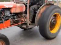 0-100 - 8.5s + burnout + drift -  turbo traktor