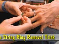 Jak zdjąć pierścionkek lub obrączkę z opuchniętego palca?