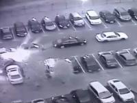 Jak nie należy wyjeżdzać z parkingu