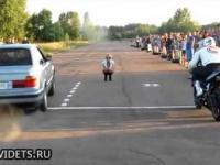 Wpadka podczas wyścigu na 1/4 mili w Rosji