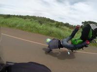 Wypadek z udziałem dwóch motocykli
