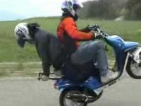 Stunt na skuterach