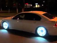 BMW 7  LED lights wheels