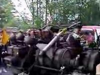 Gigantyczny motocykl napędzany silnikiem czołgu