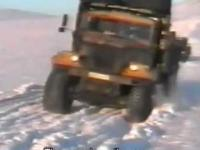 Ekstremalny transport w pólnocnej Rosji