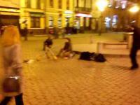 Nietypowy uliczny muzyk