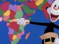 Yakko uczy mapy politycznej - powtórka z geografii