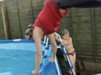 Fiflak do basenu w wykonanu mamusi