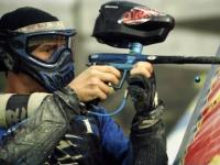 Paintball w slow motion