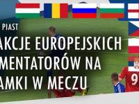 Reakcje europejskich komentatorów na bramki w meczu Ruch - Piast