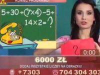 Zadanie mateatyczne w Telegrze