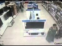 Kobieta ukradł telewizor