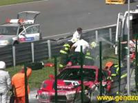 Wypadek Radosława Kordeckiego podczas wyścigu Dywizji 4 na słowackim torze Slovakia Ring.