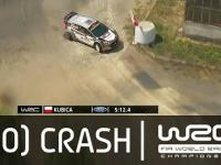 WRC - LOTOS 72nd Rally Poland 2015: Kubica puncture on SS19