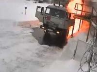 Eksplozja cysterny na stacji benzynowej
