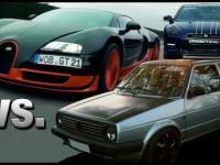 Nierówny pojedynek 3 samochodów